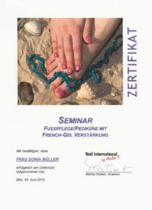 Seminar Fusspflege/Pediküre mit Gelverstärkung bei Nail International by Marlise K, Biel 2012